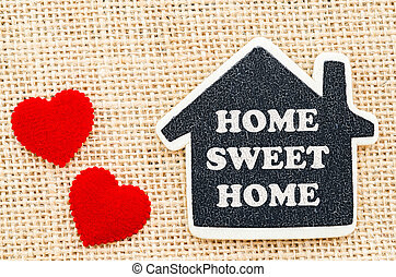 Home sweet home - Home sweet home word in wooden home model...