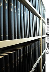 old books in a library bookshelf showing education concept