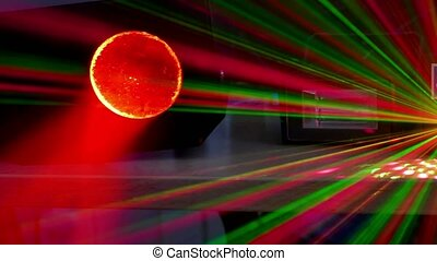 light bokeh beams background disco laser