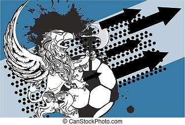 gryphon soccer crest background1 - gryphon soccer crest...