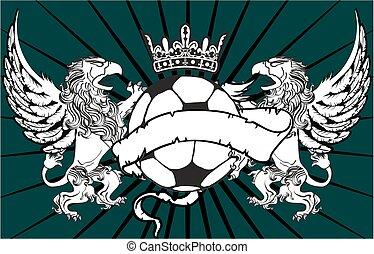 gryphon soccer crest background3 - gryphon soccer crest...