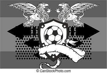 gryphon soccer crest background4 - gryphon soccer crest...