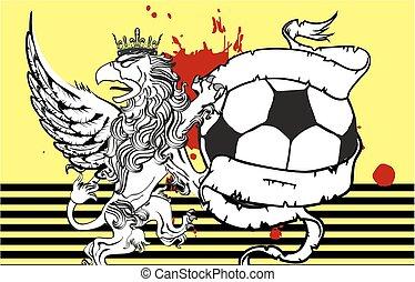 gryphon soccer crest background7 - gryphon soccer crest...