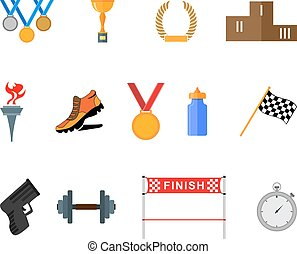 Sport icons - Set of flat sport icons EPS10