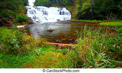 Agate Falls Northern Michigan - Agate Falls on an autumn day...