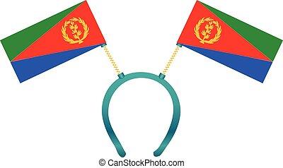 Headgear flag Eritrea - Headdress with a flag of Eritrea for...