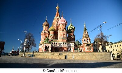 St Basils Cathedral on Red Square in Moscow, Russia - St...
