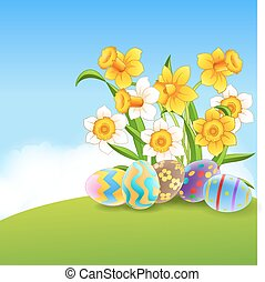 Illustration of Easter Bunny paint