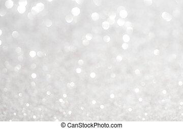 srebro, biały, Błyszcząc, boże narodzenie, lights.,...