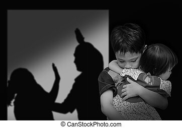 child with his parent fighting - Asian child with his parent...
