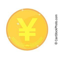 Yen Symbol Yuan, vector illustration