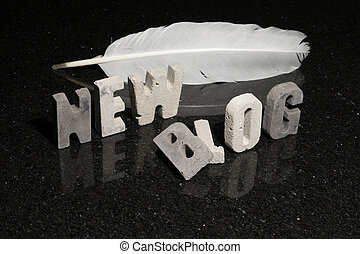 Conceptual illustration of launching a new blog - Conceptual...