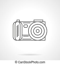 Photo camera icon flat line design vector icon - Camera for...