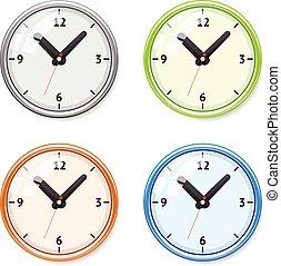 Vector Set of bright clock