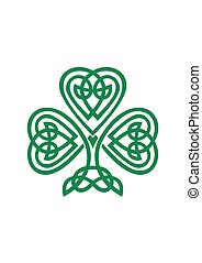 Celtic Shamrock symbol vector illustration isolated on...