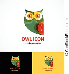 Owl outline icon and symbol