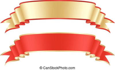 Gold and red tape  - Gold and red tape, design element