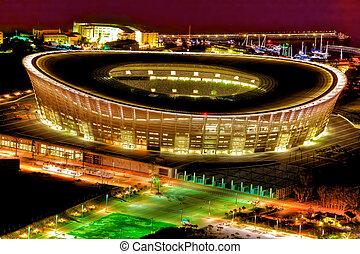 Stadium - Greenpoint stadium at night shot from signal hill...