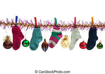 Christmas sock - Christmas holiday gift sock stocking...