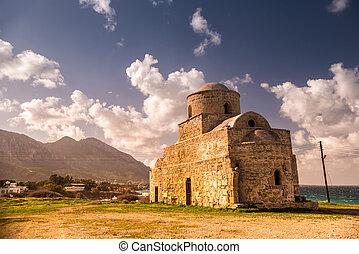 Agios (Saint) Evlalios Abandoned Church. Kyrenia District,...