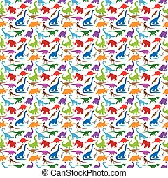 Dinosaur Pattern background.