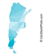 blue polygonal map of Argentina