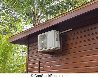 Air conditioning unit - Air conditioning heat pump on...