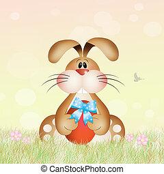 Easter rabbit - illustration of Easter rabbit