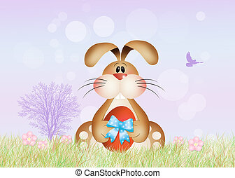 Easter rabbit - illustration of Easter rabbit