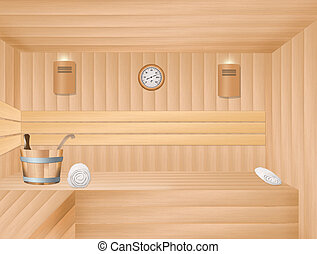 illustration of sauna