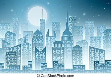 Cityscape with Skyscraper