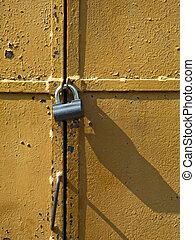 Lock at door