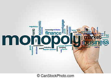 Monopoly word cloud concept - Monopoly word cloud