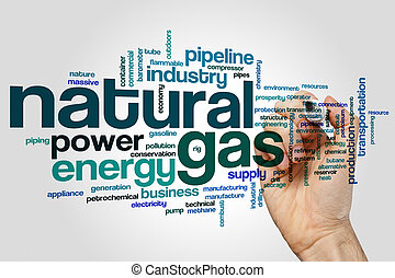 Natural gas word cloud - Natural gas concept word cloud...