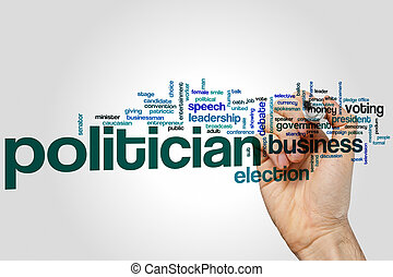 Politician word cloud concept