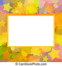 Motley frame - Bright colorful motley picture frame with...