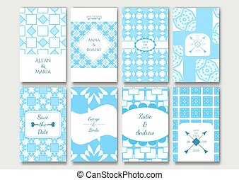 Set of the ornamental card templates.
