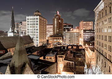 Harrisburg Capital City - The urban landscape of Harrisburg,...