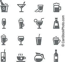 Drinks Icons - Utility Series - Drinks icons for your...