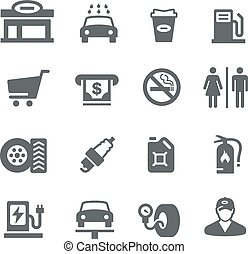 Gas Station - Utility Series - Gas Station icons for your...