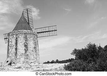 Old mill - Provence region, France. Fontvieille old mill,...