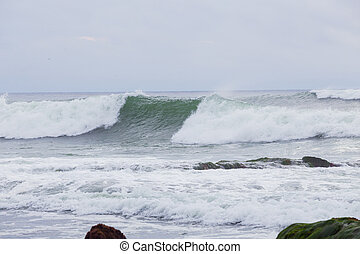 Large Waves in La Jolla California - Large waves during a...