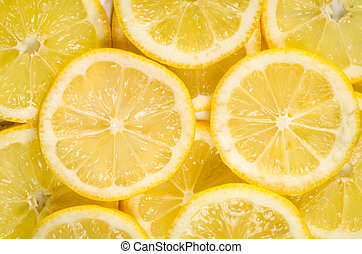 lemon slices - detail of lemon slices image