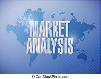 market analysis world map sign concept