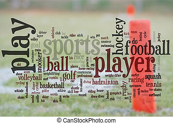 sports words - large group of related sports words with end...