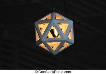 Hexagon light bulb
