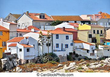 Portuguese destination, Peniche - Houses on the cliff in...