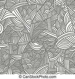 Seamless pattern with hand-drawn waves.