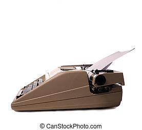 Vintage typewriter on white