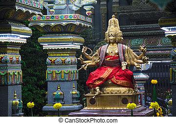 Sri Maha Mariamman Temple in Bangkok. Hindu goddess